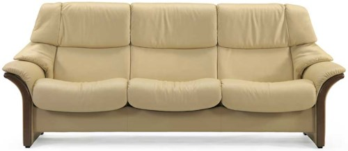 Stressless by Ekornes Stressless Eldorado High Back Reclining Leather Sofa