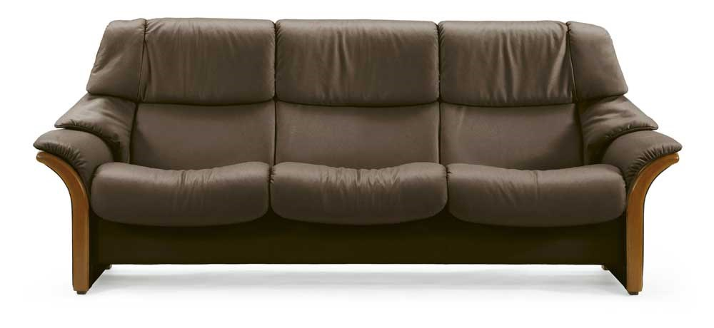 Stressless EldoradoHigh-Back 3-Seater Reclining Sofa