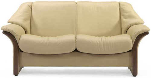 Stressless by Ekornes Stressless Eldorado Low Back Reclining Leather Loveseat