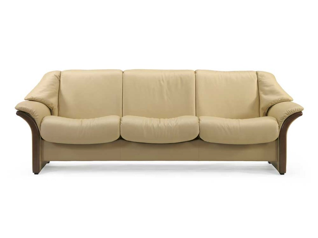 Stressless EldoradoLow-Back 3-Seater Reclining Sofa