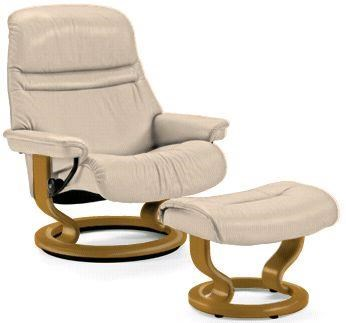 Sunrise Medium Stressless Chair U0026 Ottoman By Stressless By Ekornes
