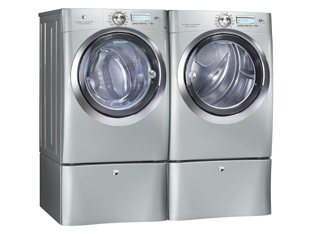 Show with Washing Machine and Optional Storage Pedestals