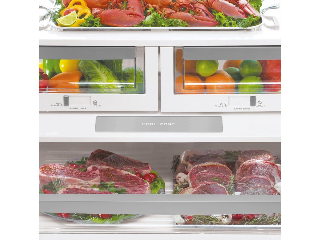 Luxury-Glide® Humidity-Controlled Crisper Drawers