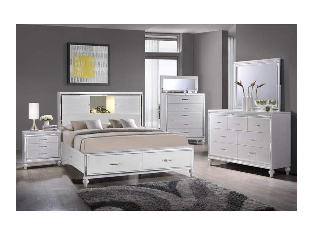 Elements International  MiamiQueen Bedroom Group