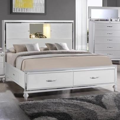 Elements International  MiamiCalifornia King Storage Bed