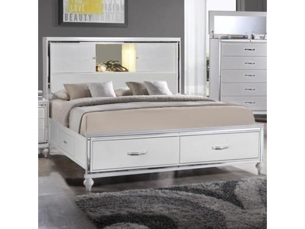 Elements International  MiamiKing Storage Bed