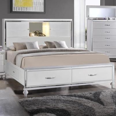 Elements International  MiamiKing Storage Bed