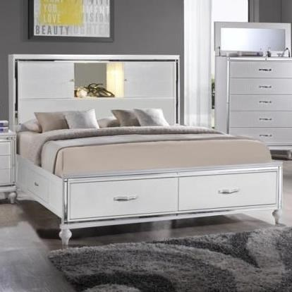 Elements International  MiamiQueen Storage Bed