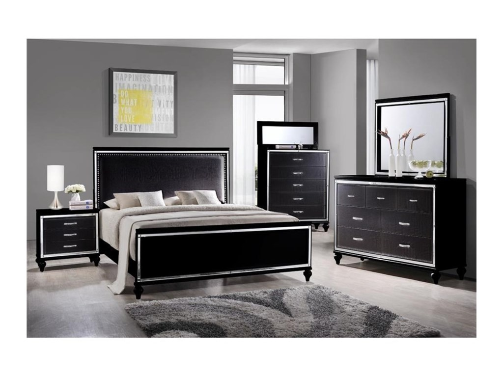 Elements International  MiamiKing Bedroom Group