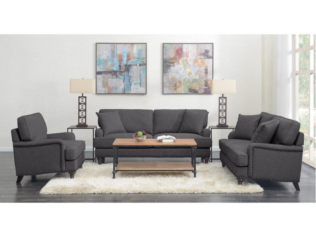 Elements Abby3PC Set-Sofa, Loveseat & Chair