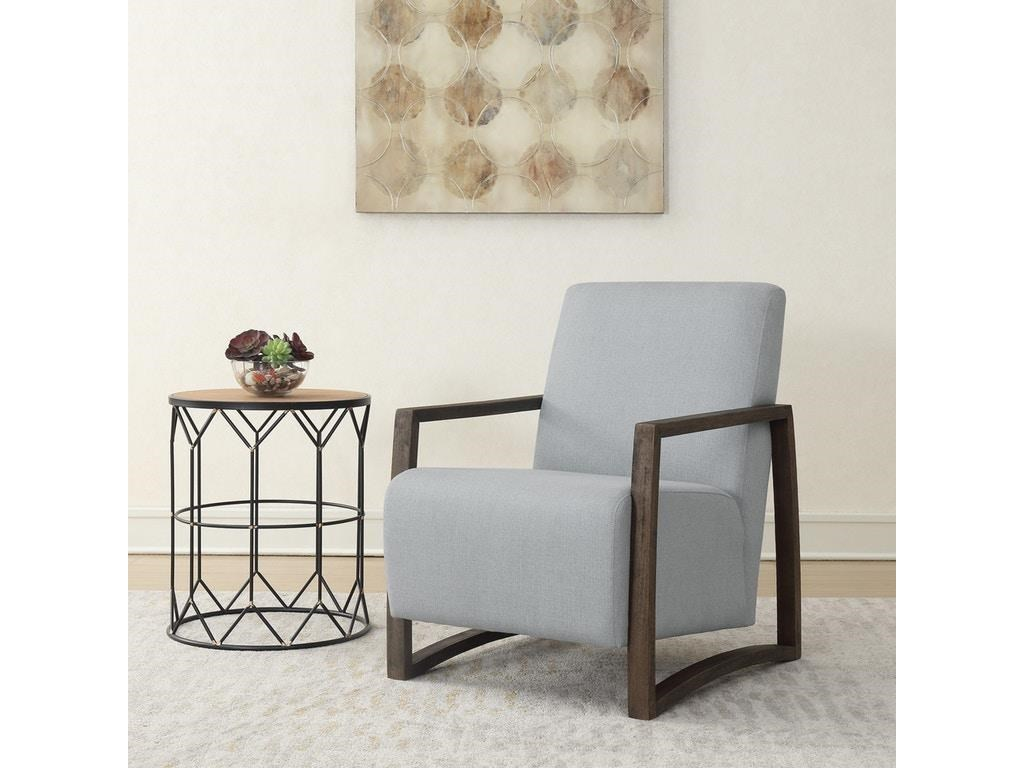 Elements International Accent ChairsFurman Charcoal Accent Chair