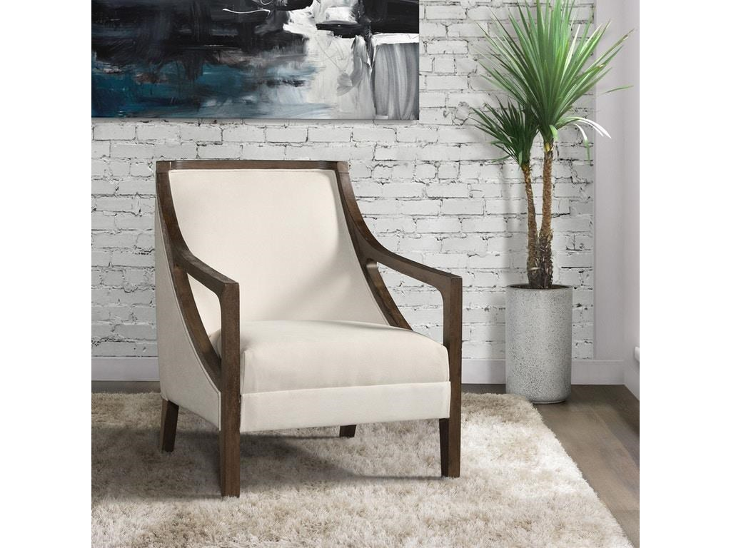 Elements International Accent ChairsHopkins Natural Accent Chair with Dark Wood
