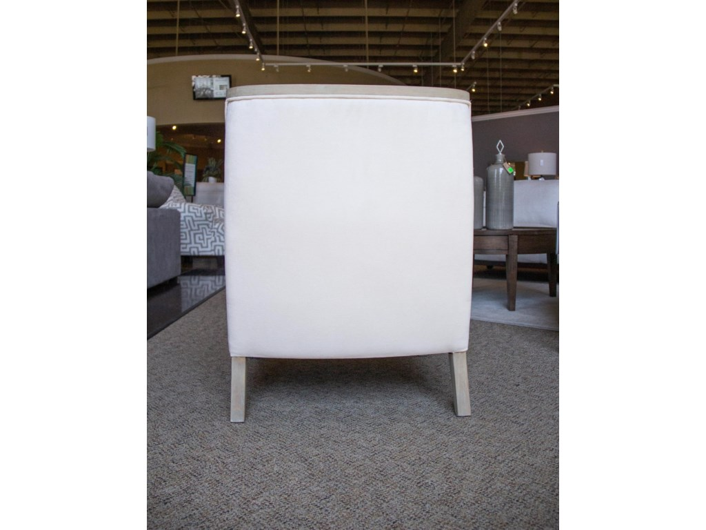 Elements International Accent ChairsHopkins Natural Accent Chair with White Wash