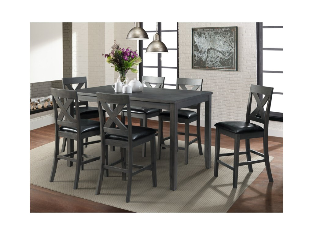 Elements International Alex7-Piece Dining Set