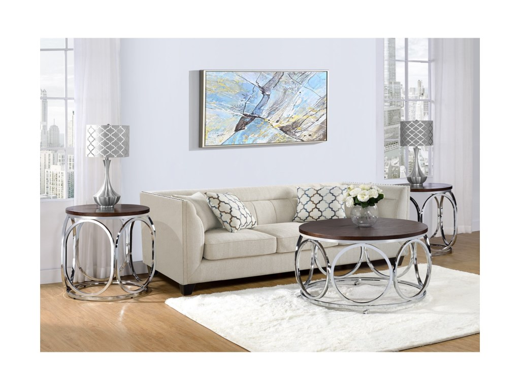 Elements Alexis2-Piece Occasional Table Set
