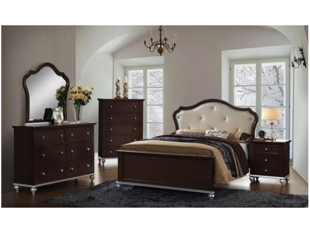 Elements International AllisonFull Bedroom Group