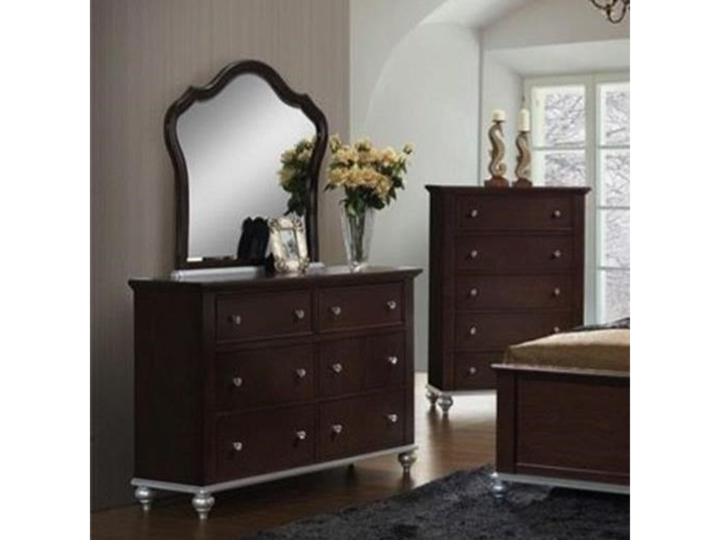 Elements International AllisonDresser and Mirror Set
