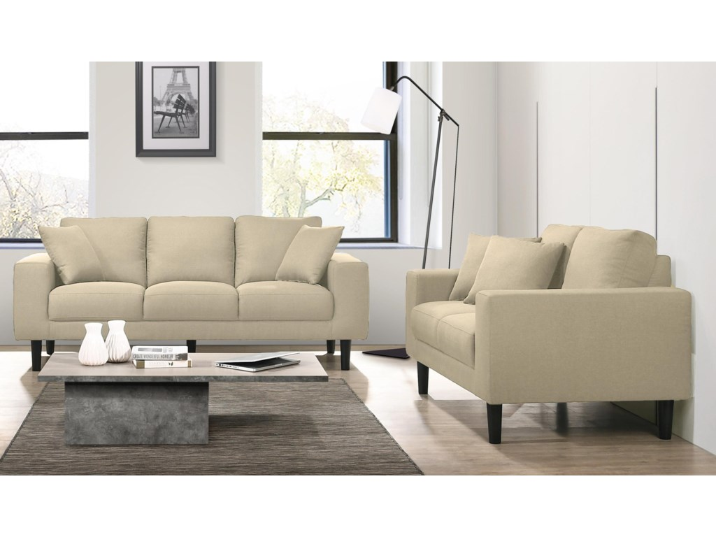Elements International Apollo2 Piece Living Room Set