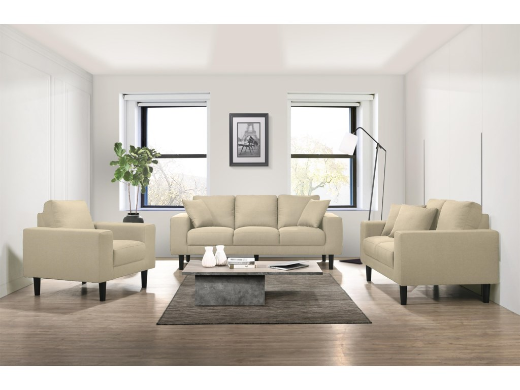 Elements International Apollo3 Piece Living Room Group