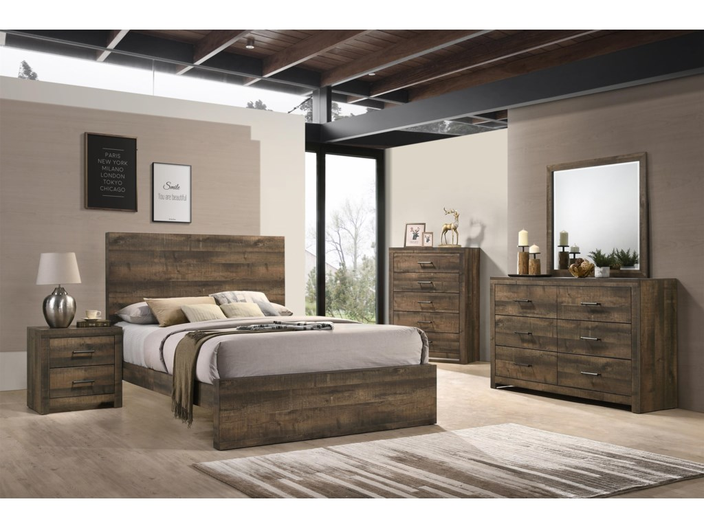 Elements International Bailey Music6 Piece King Bedroom Group
