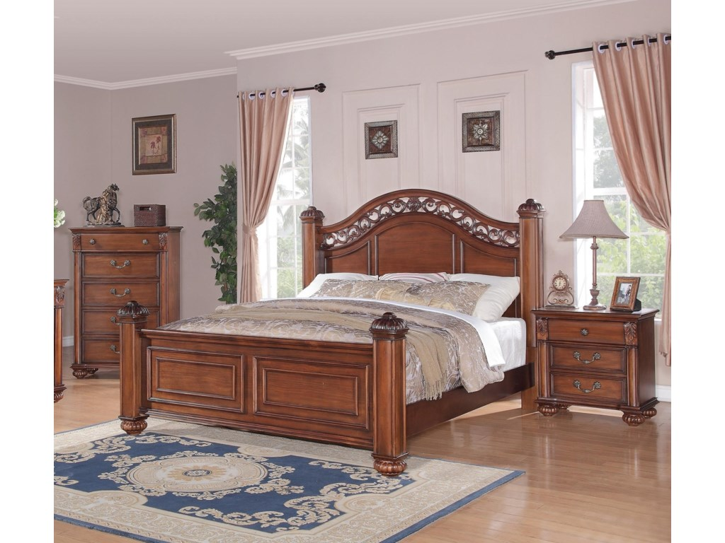 Elements Barkley SquareKing Poster 3-Piece Bedroom Set