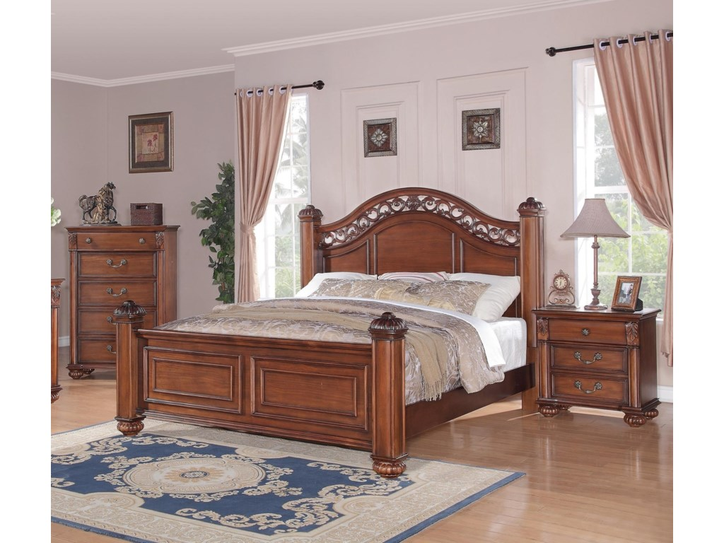 Elements Barkley SquareQueen Poster 3-Piece Bedroom Set