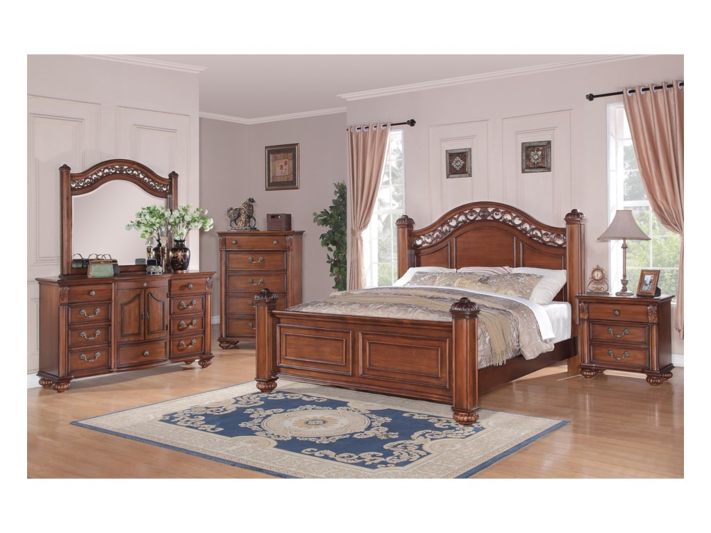 Elements Barkley SquareQueen Poster 5-Piece Bedroom Set