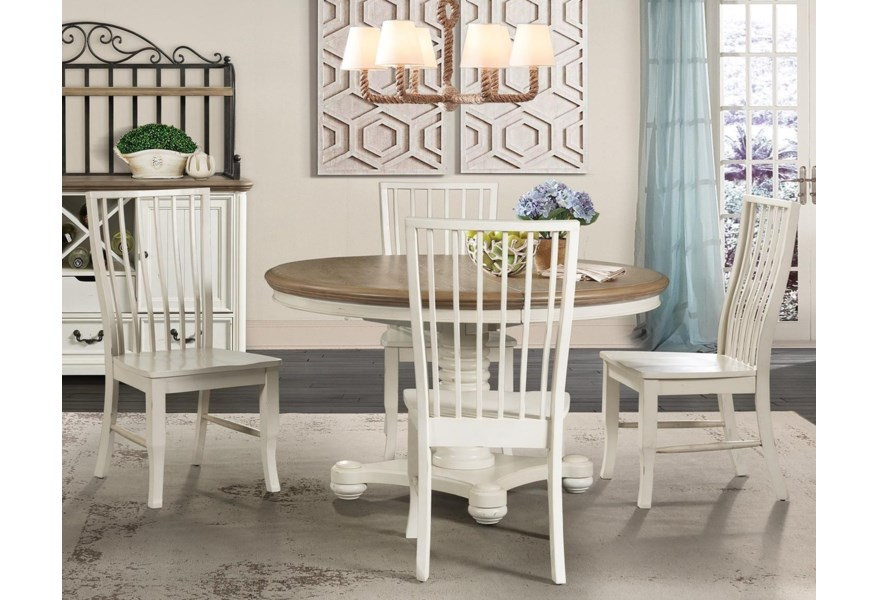 Bristol Bay Cottage Style 5-Piece Dining Set by Elements International at  Zak\'s Home