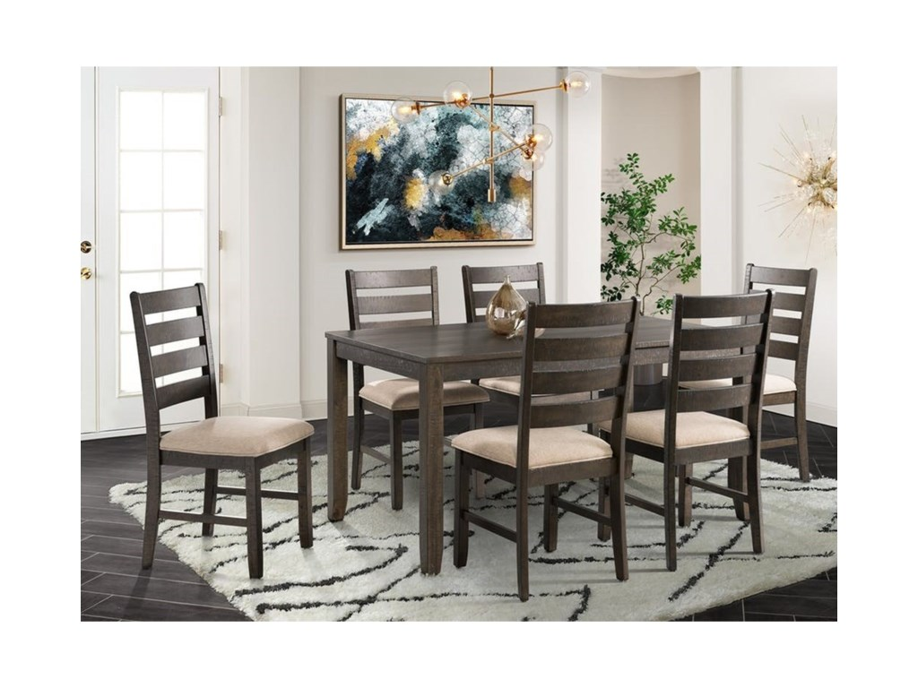 Elements International Brock7-Piece Dining Set