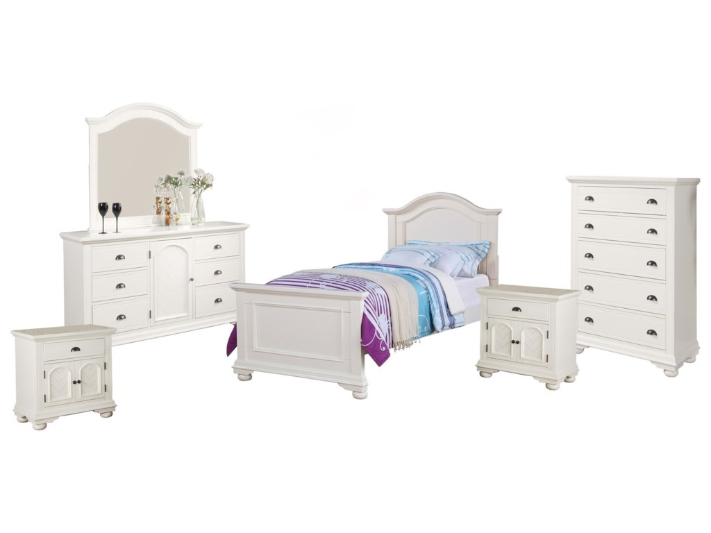 Elements BrookTwin Bedroom Group
