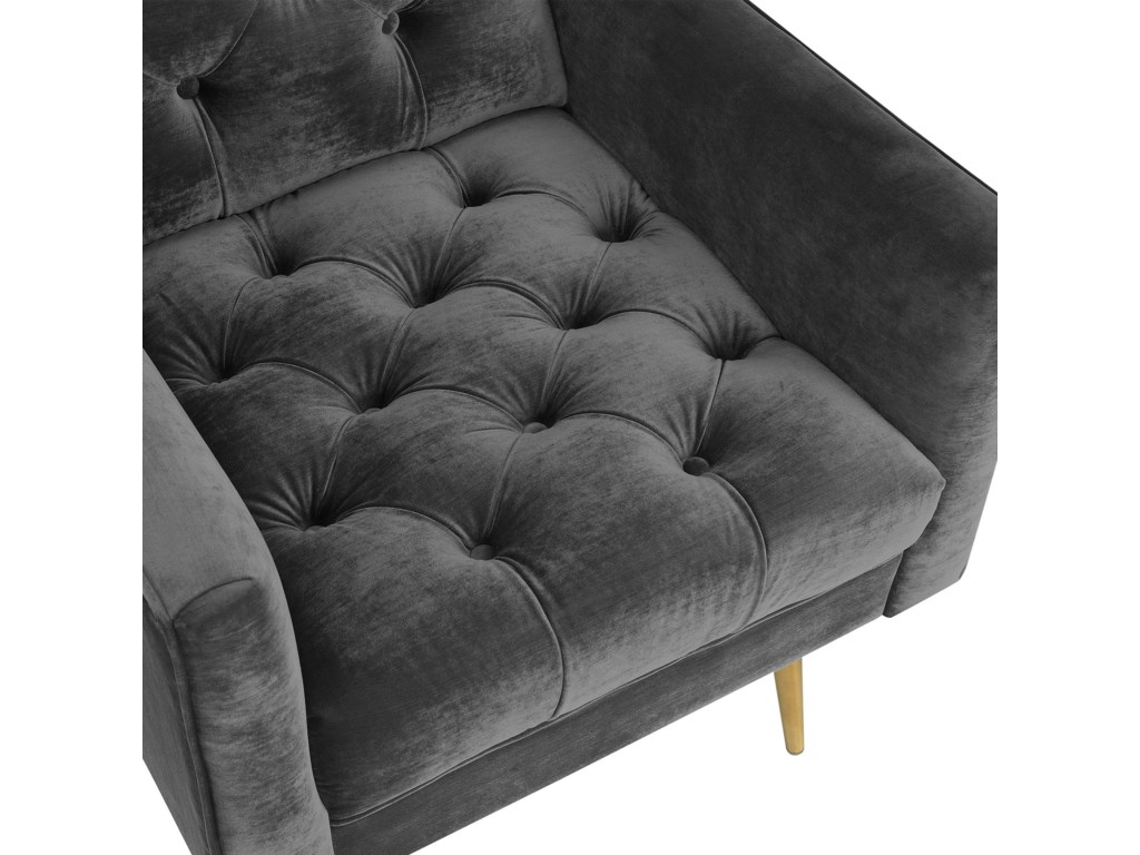 Elements BryanAccent Chair with Gold Legs