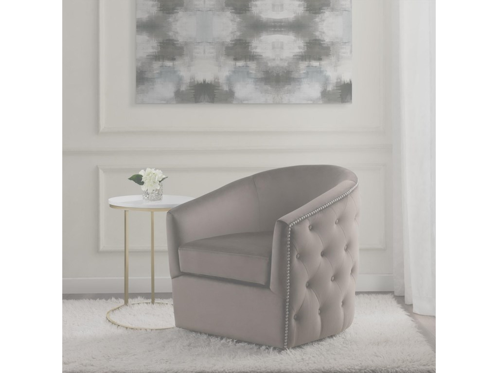 Elements International ButlerSwivel Accent Chair