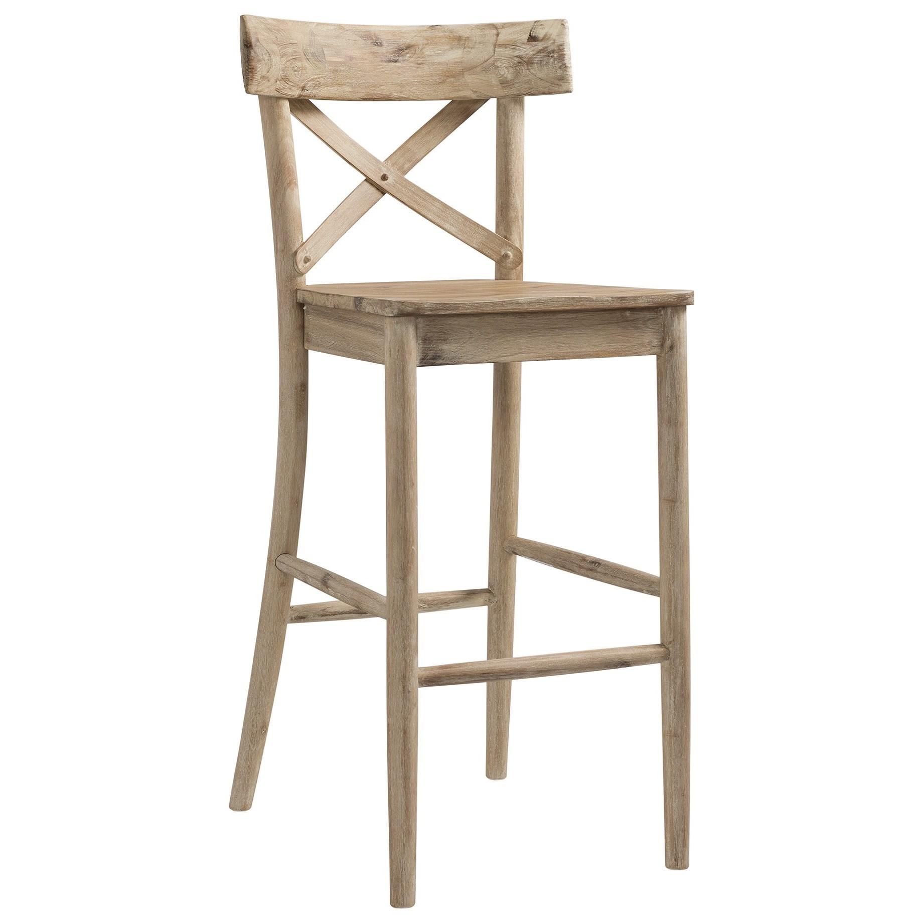 Picture of: Elements Callista Rustic X Back Bar Stool Royal Furniture Bar Stools