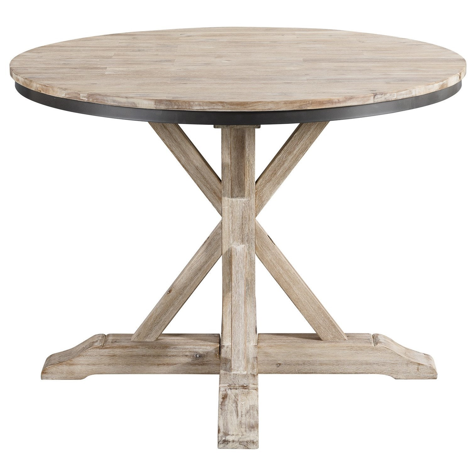 Elements Callista Rustic Round Standard Height Dining Table Royal Furniture Kitchen Tables