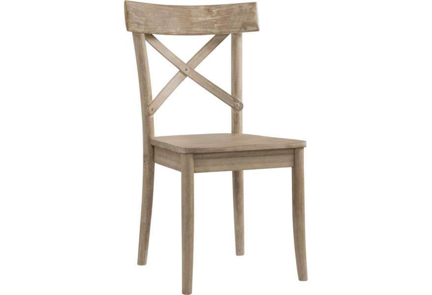 Elements International Callista Rustic X Back Wooden Side Chair Lindy S Furniture Company Dining Side Chairs