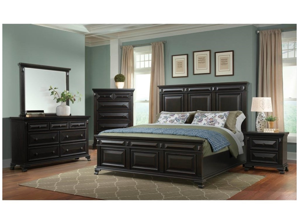Elements International CallowayKing Headboard and Footboard Bed