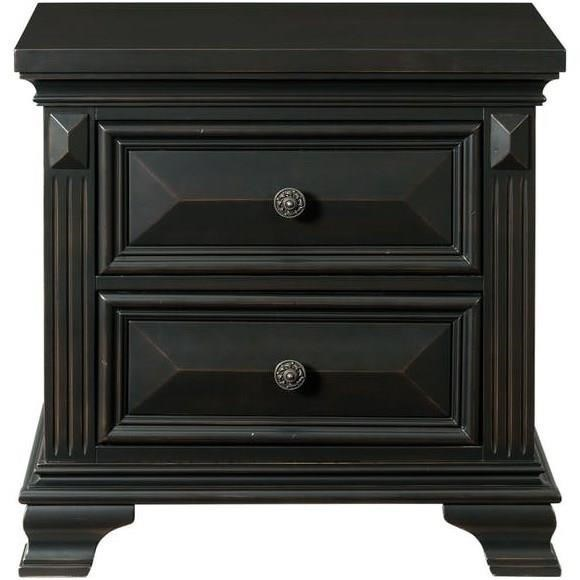 Elements Calloway Traditional Nightstand With Two Drawers Royal Furniture Nightstands