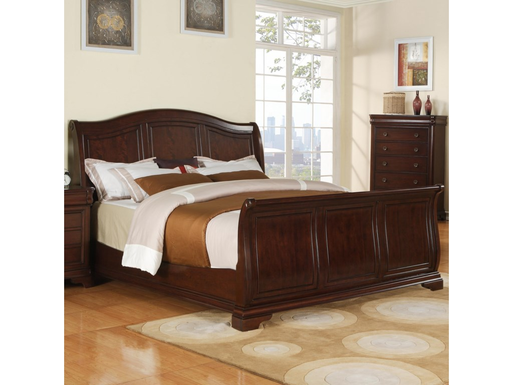 Elements International CameronKing Sleigh Bed