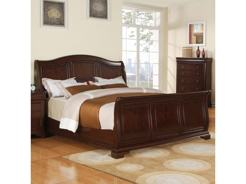 Elements International CameronCal King Sleigh Bed