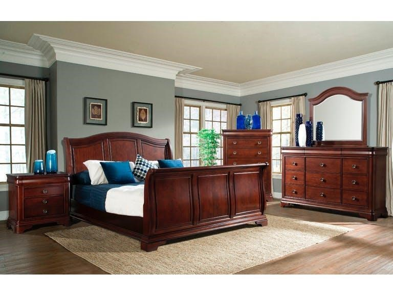 Elements International CameronQueen Sleigh Bedroom Group
