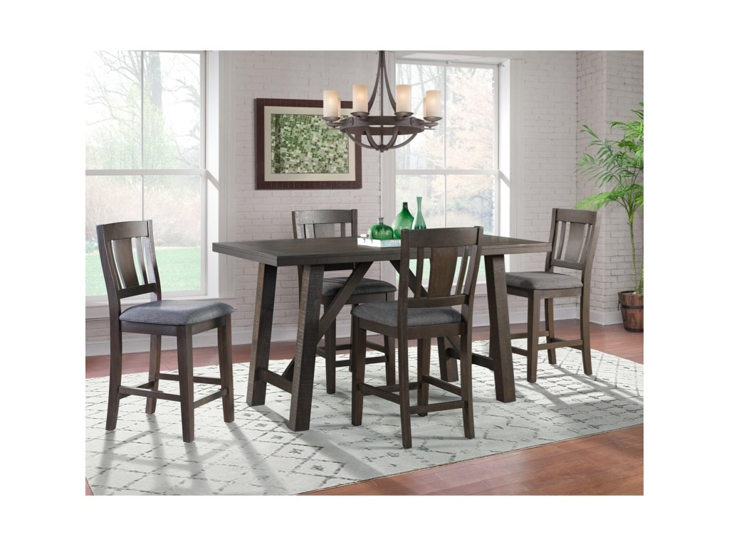 Elements Cash5-Piece Counter Height Dining Set