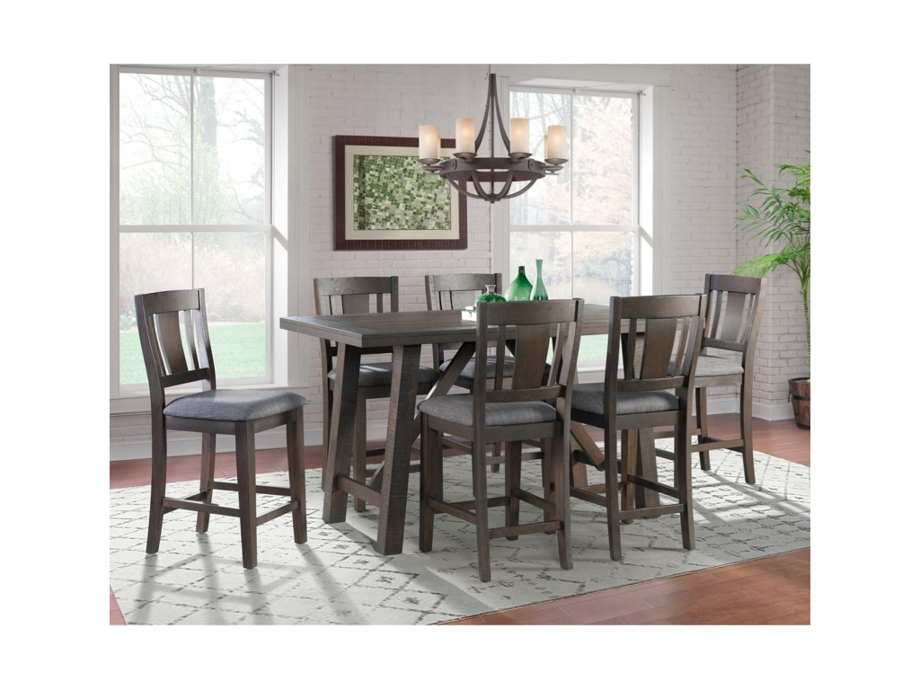 Elements Cash7-Piece Counter Height Dining Set