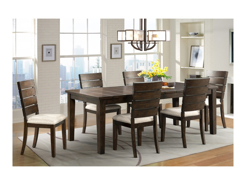 Elements CatoDining Set with 6 Side Chairs