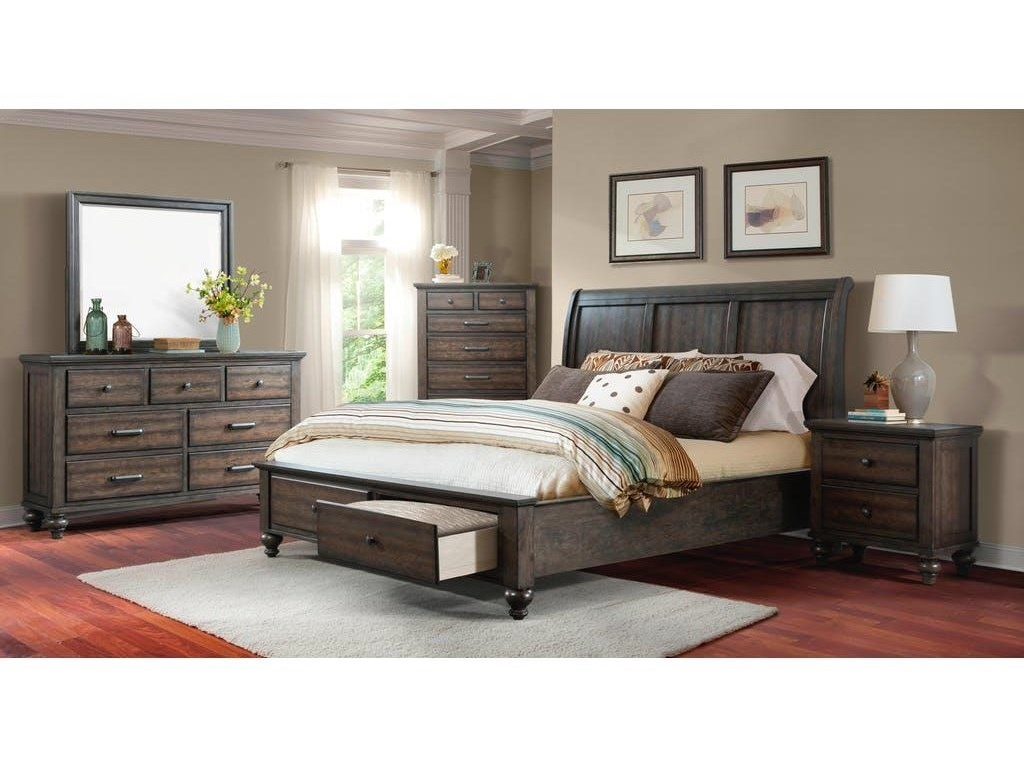Elements International ChathamQueen Gray Bedroom Group