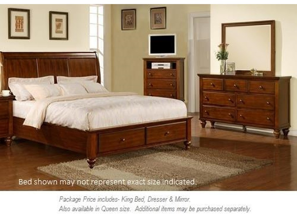 Elements International Chatham3PC King Bedroom