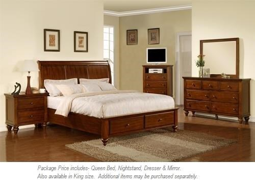 Elements International Chatham 4PC Queen Bedroom