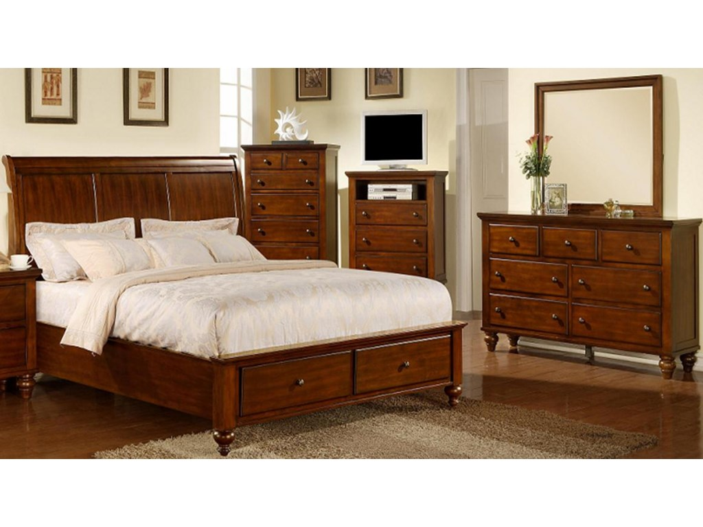 Shown with Dresser, Mirror, TV Chest, Chest and Nightstand