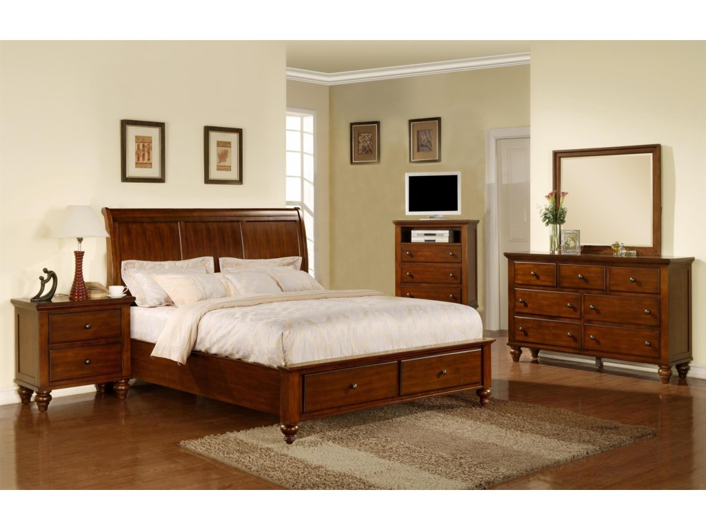 Elements ChathamKing 5 Piece Bedroom Group