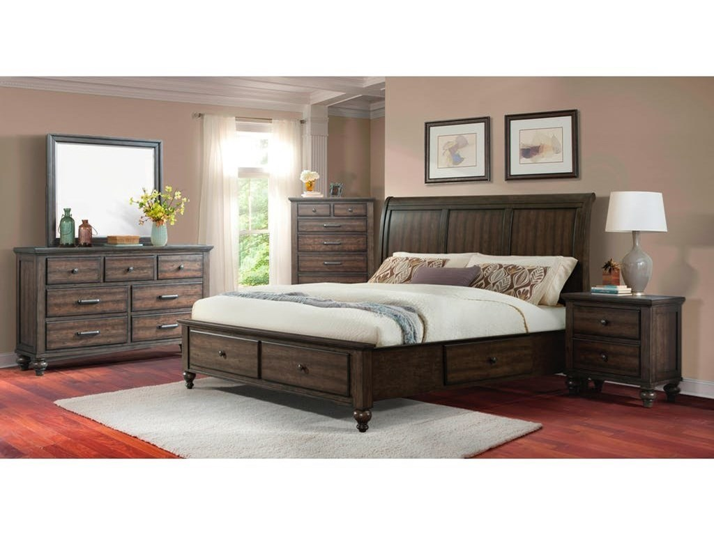 Elements International Chatham GrayDrawer Chest