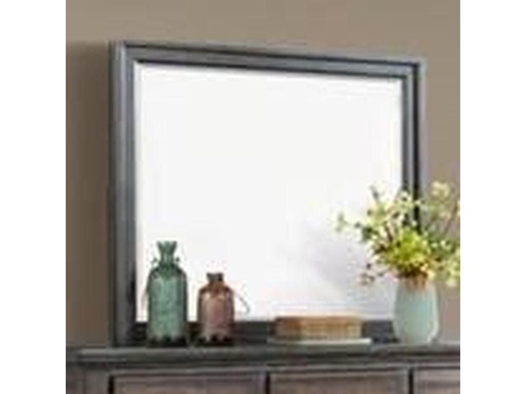 Elements International Chatham GrayDresser Mirror